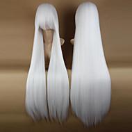 Synthetische pruiken / Kostuum pruiken Recht Kardashian Stijl Met pony Zonder kap Pruik Wit Wit Synthetisch haar 34 inch(es) Dames Feest / Zijdeel Wit Pruik Erg lang