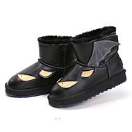 baratos Sapatos de Menino-Para Meninos / Para Meninas Sapatos Pele Inverno Botas de Neve Botas Velcro para Infantil Preto