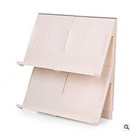 billige Skostativer & Bøjler-Skohylder og skobøjler Plast 1 Par Unisex Brun / Hvid
