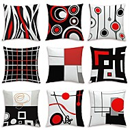 cheap Throw Pillows-9 pcs Velvet Pillow Cover, Floral Art Deco Geometic Artistic Modern Contemporary