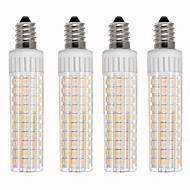 billige Kornpærer med LED-4stk 8.5 W 1105 lm E14 LED-kornpærer T 125 LED perler SMD 2835 Mulighet for demping Varm hvit / Kjølig hvit 110 V