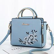 baratos Bolsas de Ombro-Mulheres Bolsas PU Bolsa de Ombro Floral Azul / Preto