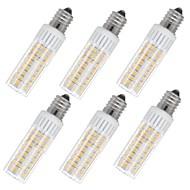 billige Kornpærer med LED-6pcs 7.5 W 937 lm E14 LED-kornpærer T 100 LED perler SMD 2835 Varm hvit / Kjølig hvit 85-265 V