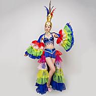 Alf Karneval Fe Kostume Voksne Dame Pailletter Flamenco Halloween Karneval Maskerade Festival / Højtider Palliet Polyester Blå Dame Karneval Kostume