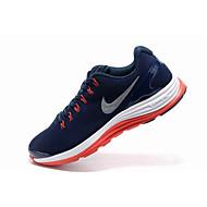 baratos Sapatos Masculinos-Homens Solas Claras Couro / Camurça Primavera Verão Tênis Corrida / Aventura Absorção de choque Azul+Rosa