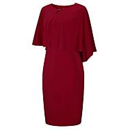Damen Übergrössen Grundlegend Hülle Kleid Solide Knielang Hohe Taillenlinie / Sexy