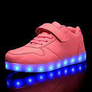 tanie Obuwie chłopięce-Dla chłopców / Dla dziewczynek Obuwie Syntetyki Jesień i zima Świecące buty Adidasy LED na Dzieci / Dla nastolatków Czerwony / Różowy / Królewski błękit
