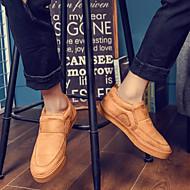 tanie Obuwie męskie-Męskie Komfortowe buty PU Zima Casual Mokasyny i buty wsuwane Zatrzymujący ciepło Czarny / Szary / Żółty
