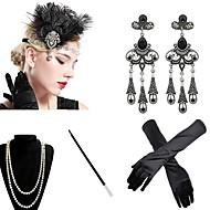 Femme Gatsby le magnifique Déguisements  Vintages Années 20 Gatsby Les rugissantes années 20 Gants Bandeau Garçonne pour Soirée Fête scolaire
