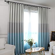 billige Gardiner ogdraperinger-gardiner gardiner Soverom Stribe Polyesterblanding Trykket