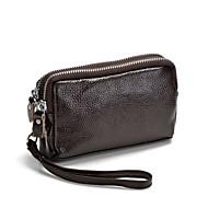 baratos Clutches & Bolsas de Noite-Mulheres Bolsas Couro Bolsa de Mão Ziper Côr Sólida Fúcsia / Café / Vermelho Escuro