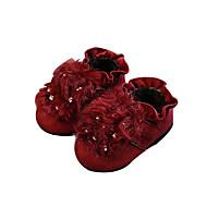 baratos Sapatos de Menina-Para Meninas Sapatos Camurça Outono & inverno Conforto Rasos Lantejoulas para Bébé Preto / Cinzento / Vinho