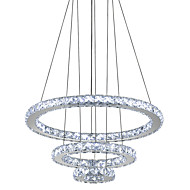 cheap -Circular Chandelier Ambient Light Electroplated Metal Crystal, LED 110-120V / 220-240V Cold White LED Light Source Included / LED Integrated