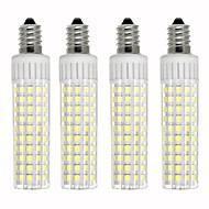 billige Kornpærer med LED-4stk 8.5 W 1105 lm E14 LED-kornpærer T 125 LED perler SMD 2835 Mulighet for demping Varm hvit / Kjølig hvit 220 V