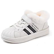 baratos Sapatos de Menino-Para Meninos / Para Meninas Sapatos Microfibra Inverno Conforto Tênis Velcro para Infantil Dourado / Preto / Bege / Listrado