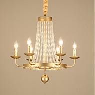 billige Takbelysning og vifter-JLYLITE 6-Light Candle-stil Lysekroner Omgivelseslys galvanisert Metall Stearinlys Stil 110-120V / 220-240V