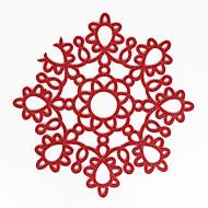 billige Bordduker-hjem multifunksjon kreativ økologi enkelt mønster blomst håndverk hult polyester isolasjon pute placemat glidende anti-scalding