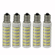 billige Kornpærer med LED-5pcs 4.5 W 450 lm E12 LED-kornpærer T 76 LED perler SMD 2835 Mulighet for demping Varm hvit / Kjølig hvit 110 V