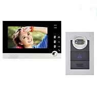 billige Dørtelefonssystem med video-actop 7inch fargeskjerm kablet video dørtelefon for villasupport 1-2 monitor ZY-316210