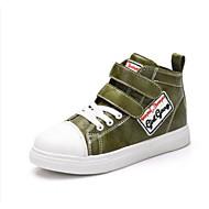 baratos Sapatos de Menino-Para Meninos / Para Meninas Sapatos Couro Ecológico Outono & inverno Conforto Tênis para Adolescente Preto / Roxo / Verde Tropa