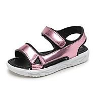 baratos Sapatos de Menino-Para Meninos / Para Meninas Sapatos PVC Primavera Verão Conforto Sandálias Velcro para Infantil / Bébé Dourado / Prata / Rosa claro / Listrado