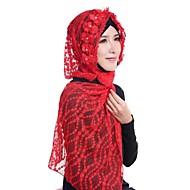 Dame Vintage / Grunnleggende Hijab - Blonde, Jacquardvevnad