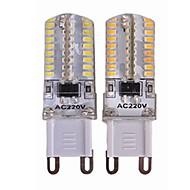 billige Bi-pin lamper med LED-SENCART 4stk 3.5 W 450 lm G9 LED-lamper med G-sokkel T 64 LED perler SMD 3014 Nytt Design / Dekorativ Varm hvit / Hvit 110-240 V