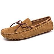 baratos Sapatos Masculinos-Homens Sapatos de couro Camurça Primavera & Outono Casual / Formais Sapatos de Barco Não escorregar Marron / Azul / Khaki