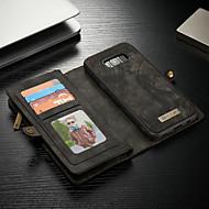 billiga Mobil cases & Skärmskydd-CaseMe fodral Till Samsung Galaxy S8 Plus Plånbok / Korthållare / med stativ Fodral Enfärgad Hårt PU läder för S8 Plus