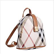 ราคาถูก กระเป๋า-สำหรับผู้หญิง กระเป๋าต่างๆ เส้นใยสังเคราะห์ กระเป๋าเป้สะพายหลัง ซิป สีดำ / สีเหลือง / ไวน์