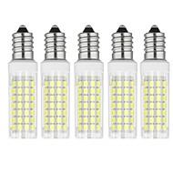 billige Kornpærer med LED-5pcs 6 W 750 lm E14 LED-kornpærer T 88 LED perler SMD 2835 Varm hvit / Kjølig hvit 85-265 V