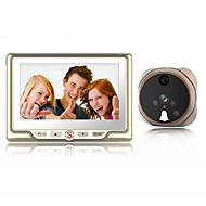 billige Dørtelefonssystem med video-Factory OEM Med ledning Innebygd Ut-høytaler 4.3 tommers Håndfri En Til En Video Dørtelefon