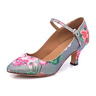 billige Moderne sko-Dame Moderne sko Syntetisk Høye hæler Spenne / Glimmer Kubansk hæl Kan spesialtilpasses Dansesko Grå