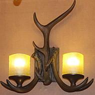 billige Vegglamper-Kreativ Retro / vintage / Land Vegglamper Soverom / Innendørs Harpiks Vegglampe 220-240V 25 W