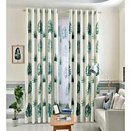 billige Gardiner ogdraperinger-gardiner gardiner Soverom Blomstret 100% Polyester Reaktivt Trykk
