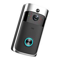 billige Dørtelefonssystem med video-Factory OEM Trådløs Innebygd Ut-høytaler Ingen Screen (output av APP) Håndfri 1280*720 pixel En Til En Video Dørtelefon