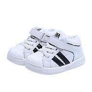 baratos Sapatos de Menina-Para Meninos / Para Meninas Sapatos Microfibra Inverno Conforto Tênis para Infantil Branco / Preto
