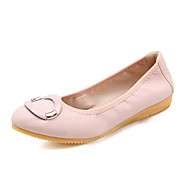 cheap Women's Flats-Women's PU(Polyurethane) Spring Sweet / Minimalism Flats Flat Heel Pointed Toe Bowknot / Sequin Black / Beige / Pink