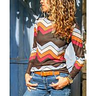 Tee-shirt Femme, Géométrique / Bloc de Couleur Imprimé