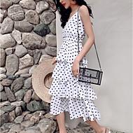 Women's Daily Sheath Dress White M L XL