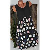 فستان نسائي قياس كبير ثوب ضيق أساسي طول الركبة منقط هندسي خصر عالي / مثير