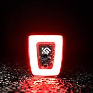 billige Sykkellykter og reflekser-Vanntett / LED Lyspærer / Baklys LED Sykkellykter LED Sykling Vanntett, Bærbar, Foldbar Oppladbart litiumbatteri 200 lm Innebygd Li-batteridrevet / Oppladbart Batteri Rød Camping / Vandring / Grotte