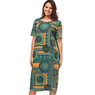 Damen Grundlegend Hülle Kleid Geometrisch Midi Hohe Taillenlinie / Sexy