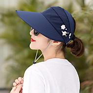 Damen Grundlegend,Leinwand Sonnenhut Geometrisch Purpur Fuchsia Khaki