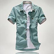 Pánské - Jednobarevné / Grafika Základní Košile