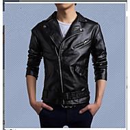 בגדי ריקוד גברים שחור L XL XXL ג'קט פאנק & גותיות צבע אחיד דש רשמי רזה / שרוול ארוך / סתיו / חורף