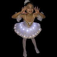 Ballett Schwanensee LED Mehrschichtig Kostüm Mädchen Kinder Kleid Tutu Blasenrock Unter Rock Weiß Vintage Cosplay Weihnachten Party Halloween Ärmellos Ärmellos Spag Kürzer Länge / Krinoline
