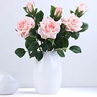 Künstliche Blumen 1 Ast Klassisch Hochzeit Hochzeitsblumen Rosen Ewige Blumen Tisch-Blumen