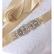 結婚式 / パーティー/フォーマル サッシュ と クリスタル / アップリケ / ベルト 女性用 サッシュ