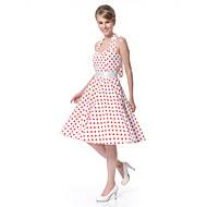 Damskie Vintage Swing Sukienka Do kolan